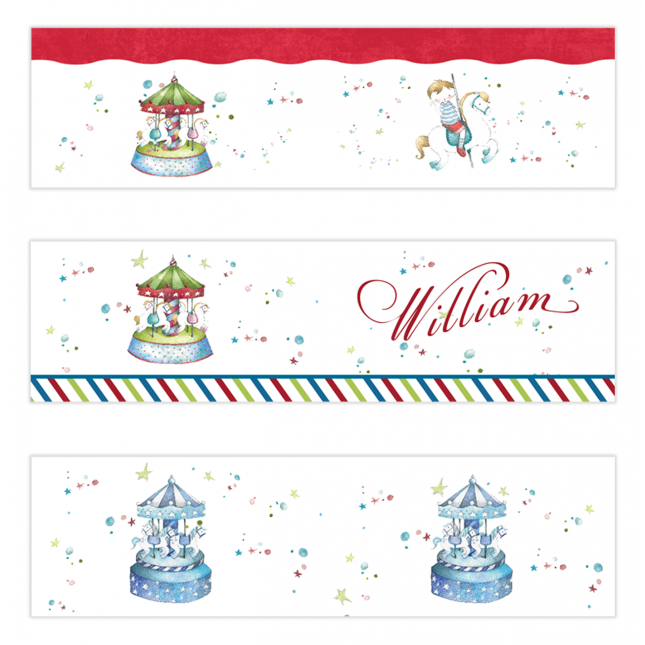 Carousel Mini Topper Flags