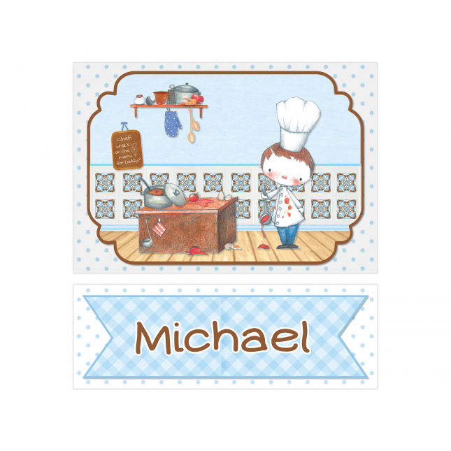 Little Boy Chef Personalized Sign