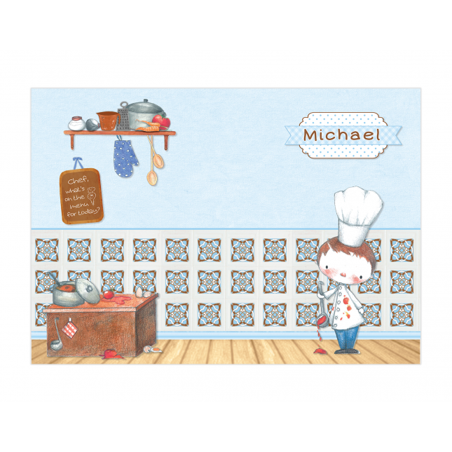 Little Boy Chef Placemat