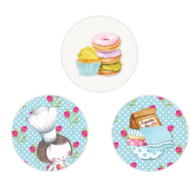 Cupcake Circle Stickers