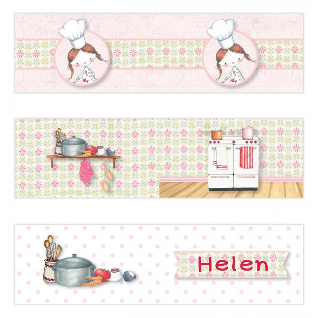 Little Girl Chef Mini Topper Flags