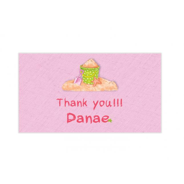 Girl Summertime Mini Thank You Cards