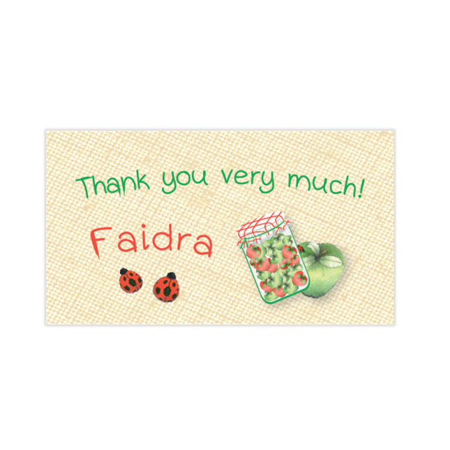 Green Apple Mini Thank You Cards