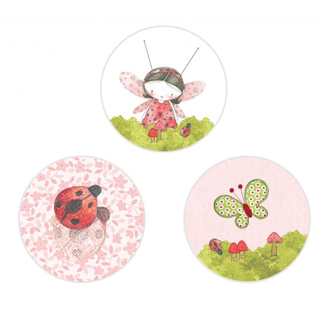 Lady Bug Circle Stickers