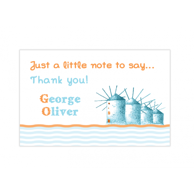 Little Sailor Mini Thank You Cards