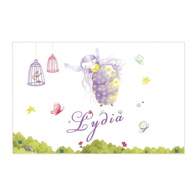 Purple Fairy Bubble Labels