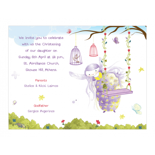 Purple Fairy Invitation
