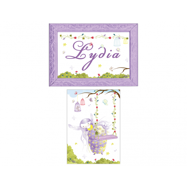 Purple Fairy Personalized Sign