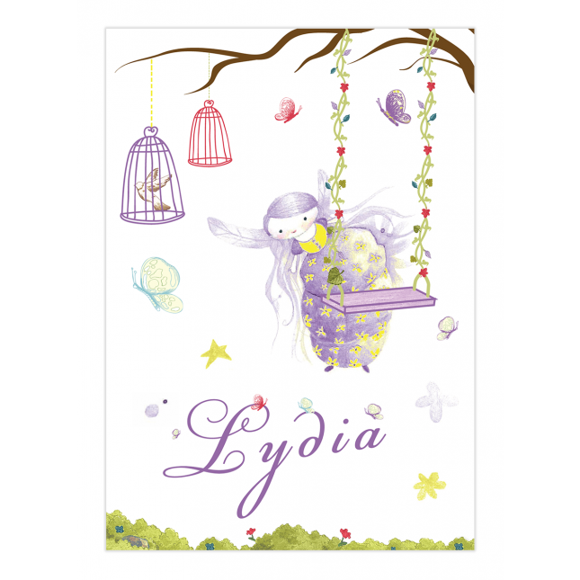 Purple Fairy Wine Bottle Labels