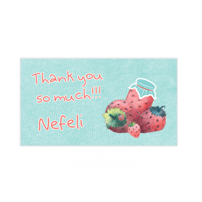 Strawberry Mini Thank You Cards
