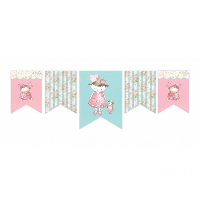 Vintage Princess Horizontal Decor Banner