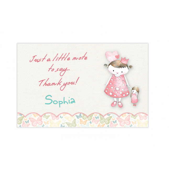 Vintage Princess Mini Thank You Cards