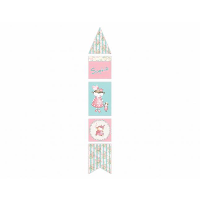 Vintage Princess Vertical Decor Banner