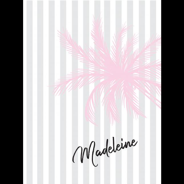 Pink Palm Stripes Notebook/Agenda