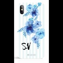 Blue Flower Monogram Phone Case