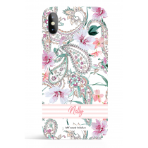 Paisley Pink Stripes Phone Case