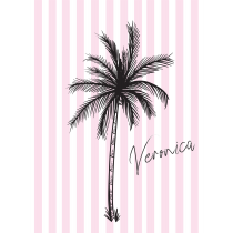 Paradise Pink Stripes Notebook/Agenda