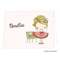 Amelia Christening Folded Invitation