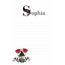 Folklore Chic Personalized Notepad