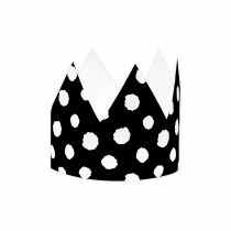 Black Polka Large DIY Crowns