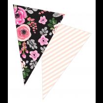 Black Floral Banner
