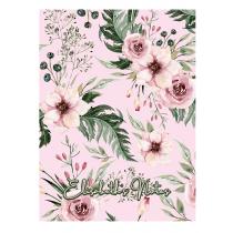 British Garden Personalized Pink Notebook