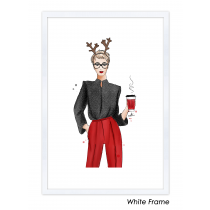 Christmas Fashion Art Print | Maja Tomljanovic