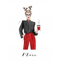 Christmas Mood Personalized Notebook   Maja Tomljanovic