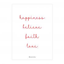 Christmas Words Greeting Card
