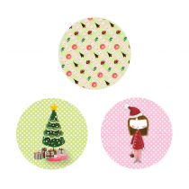 Dollhouse Circle Stickers