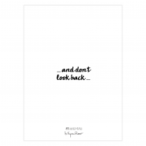 Don't look back Folded Greeting Card | Virginia Romo