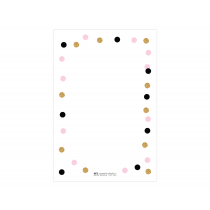 Pink Gold Sparkle Thank you Cards