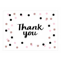 Pink Sparkle Premium Thank you Cards