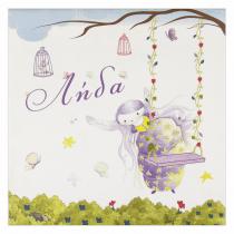 Purple Fairy Canvas Frame
