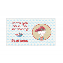 Boy Summertime Mini Thank You Cards