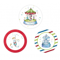 Carousel Circle Stickers