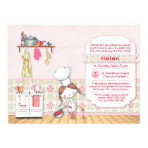 Little Girl Chef Invitation