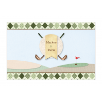 Golf Boy Twins Bubble Labels