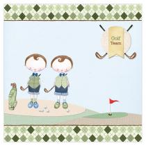 Golf Boy Twins Canvas Frame