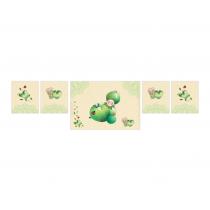 Green Apple Decor Banner
