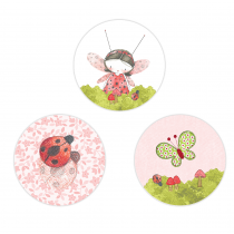 Lady Bug Circle Stickers