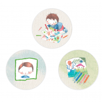 Art Studio for Boys Circle Stickers