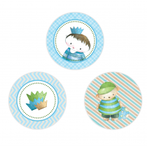 Little Prince Circle Stickers