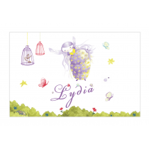 Purple Fairy Bubble Labels