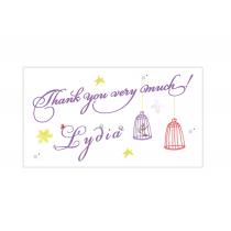 Purple Fairy Mini Thank You Cards
