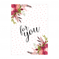 Flowers for you Folded Greeting Card