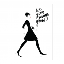 Fly Away Folded Greeting Card | Virginia Romo