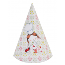 Little Girl Chef DIY Party Hats