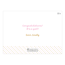Baby Girls Gift Card