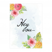 Hey You! Folded Greeting Card